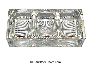 Vintage Glass Inkwell