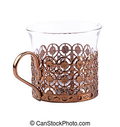 Vintage glass isolated on a white background