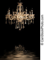 vintage glass lamp black background - Contemporary glass...