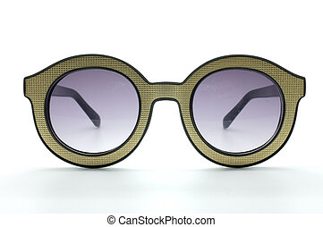 Vintage glasses, eye wear - Yellow retro, vintage glasses, ...