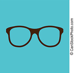 Vintage glasses icon isolated on blue background - ...