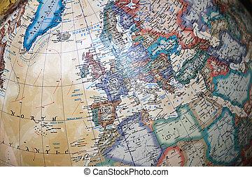 Vintage globe map
