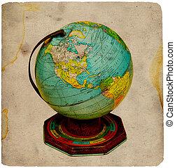 Vintage Globe - Vintage Tin Globe.