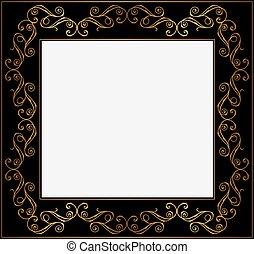 Vintage gold and black frame