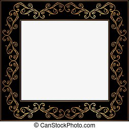 vintage black frame. Vintage Gold And Black Frame
