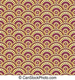 Vintage gold and purple seamless pattern