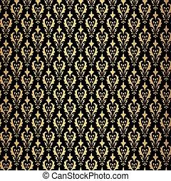 Vintage gold background, vector ornamental pattern