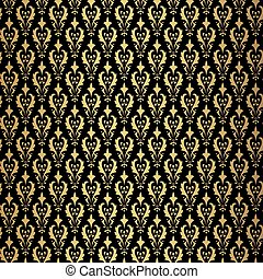 Vintage gold background, vector ornamental pattern