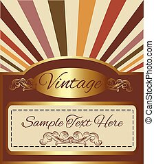 vintage gold background with space for your text.