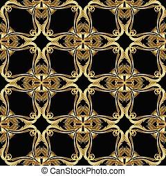 Vintage gold Baroque seamless pattern.