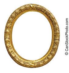 Vintage gold color picture frame