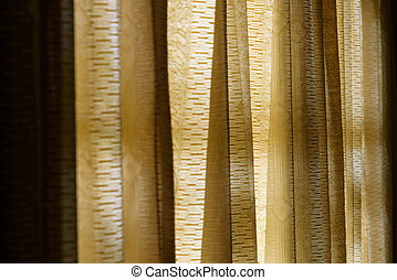 Vintage gold curtain background, Selective focus