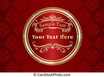Vintage gold frame design template