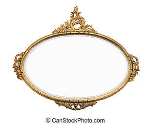 vintage gold mirror