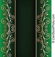 Vintage gold ornamental background. Vector