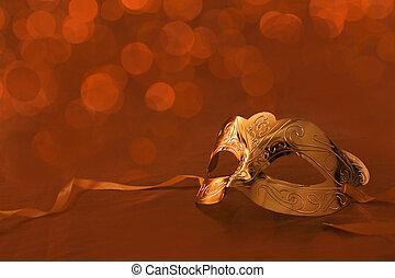 Vintage golden carnival mask