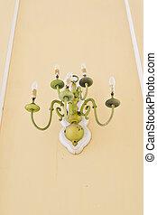 Vintage golden chandelier