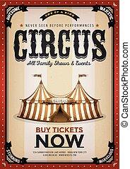 Vintage Golden Circus Background