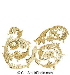 Golden Classic ornament element
