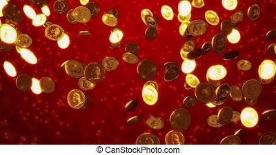 Vintage golden coins. Business and finance concept...