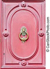 Vintage golden door knocker