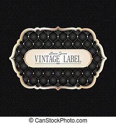 Vintage golden label
