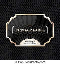 Vintage golden label