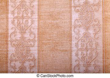 vintage golden wallpaper background with beige stripes pattern
