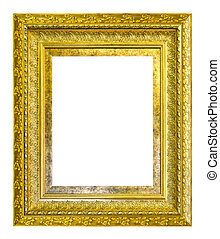 golden wooden frame
