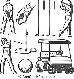Vintage Golf Elements Collection