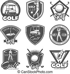 Vintage Golf Labels Set