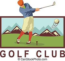 Vintage Golf Poster With A Player