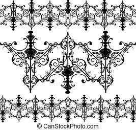 Vintage Gothic Ornament Pattern Elements