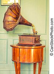 Vintage Gramaphone music box