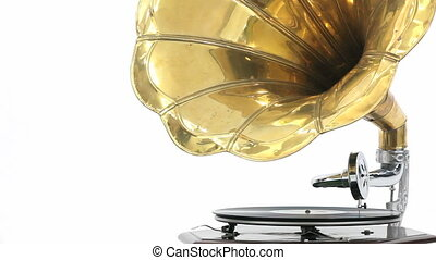 Vintage Gramophone - Close-up of a vintage Gramophone...