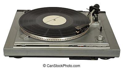 Vintage gramophone - Vintage gramophone with a gramophone...