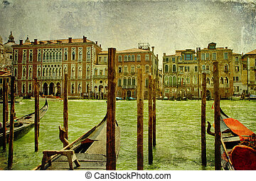 Vintage Grand Canal panorama