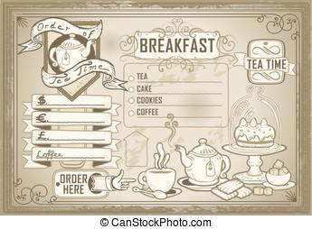 vintage graphic element for bar menu - Detailed illustration...