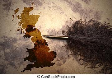Vintage Great Britain map