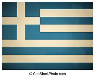 Vintage Greece Flag. Vector illustration.