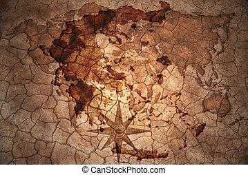 vintage greece map