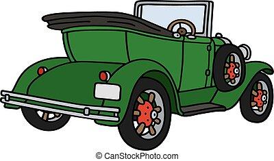 Vintage green cabriolet