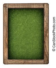 Vintage green chalkboard with wooden frame