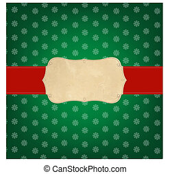 Vintage Green Merry Christmas Label