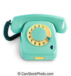 Vintage green telephone