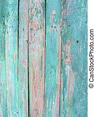 vintage green wood wall