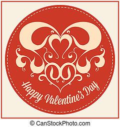 Vintage greeting card for Valentine's day holiday