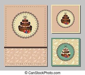 Vintage greeting cards set