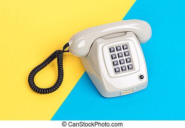 Vintage grey telephone