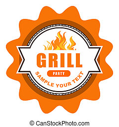 Vintage grill label design.